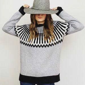 Michael Kors Gray Fair Isle Sweater